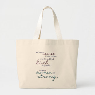 women are strong large tote bag