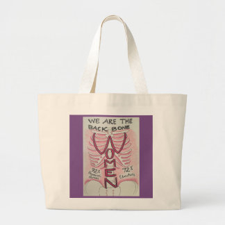 Women are the Backbone Large Tote Bag