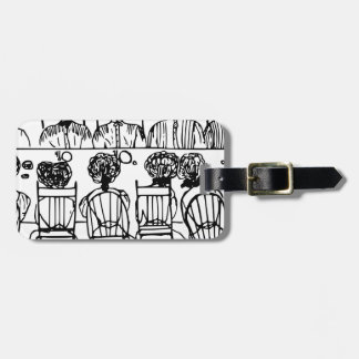 Women at a Dinner Party Bag Tag