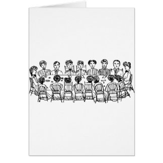 Women at a Dinner Party Card