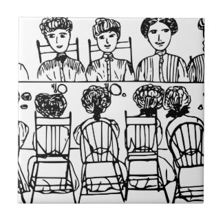 Women at a Dinner Party Tile