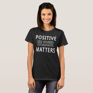 Women Basic Dark T-Shirt Men's Positive Elixir Mat