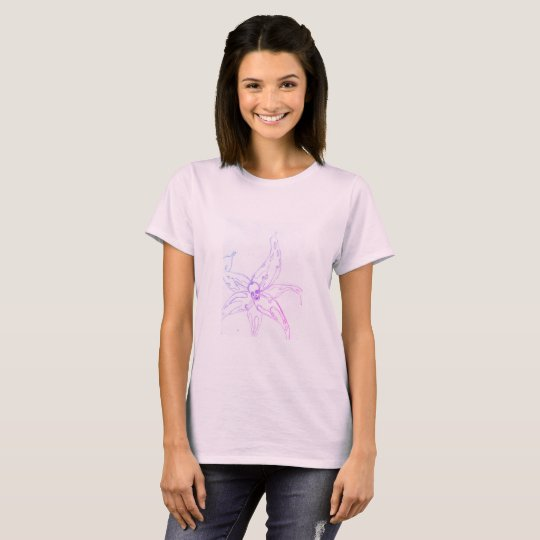 women basic t-shirt light purple