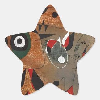 Women, Birds, and a Star Star Sticker