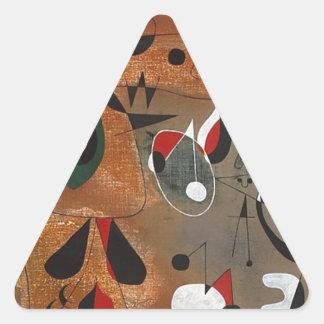Women, Birds, and a Star Triangle Sticker
