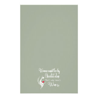 WOMEN CANNOT LIVE BY CHOCOLATE ALONE STATIONERY