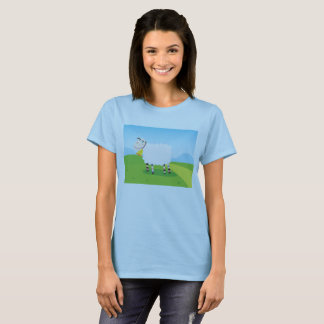 Women creative t-shirt with Sheep