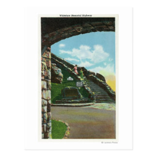 Women Descending Stairway from Summit Postcard