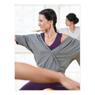 Women doing aerobics postcard