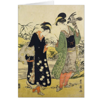 Women Dressed asFalconers Card