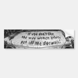 Women Drivers Bumper Sticker