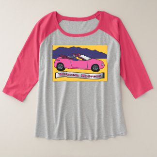 Women Drivers ~ Taking the Wheel Plus Size Raglan T-Shirt