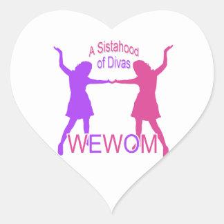 Women Empowering Women of Michigan Heart Sticker