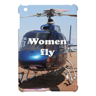 Women fly: blue helicopter cover for the iPad mini