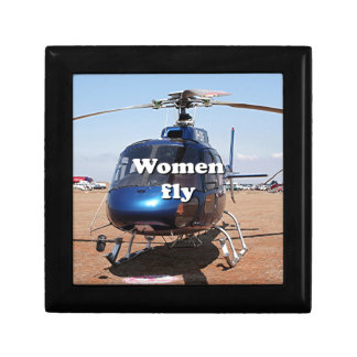 Women fly: blue helicopter gift box