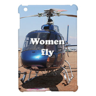 Women fly: blue helicopter iPad mini cover