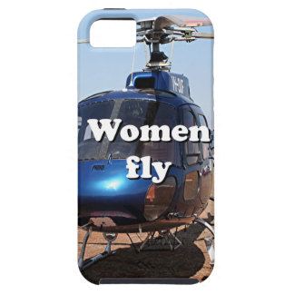Women fly: blue helicopter iPhone 5 covers