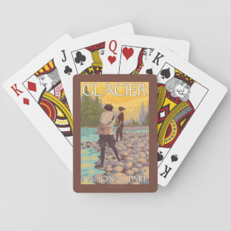 Women Fly Fishing - Glacier National Park, MT Playing Cards