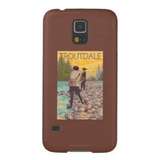 Women Fly Fishing - Troutdale, Oregon Case For Galaxy S5