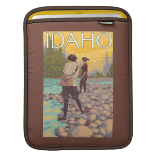 Women Fly FishingIdahoVintage Travel Poster iPad Sleeve