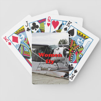 Women fly: float plane 1, Alaska Bicycle Playing Cards