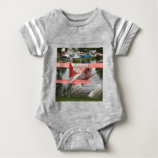 Women fly: float plane 23, Alaska Baby Bodysuit