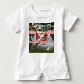 Women fly: float plane 23, Alaska Baby Romper