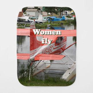 Women fly: float plane 23, Alaska Burp Cloth
