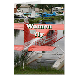 Women fly: float plane 23, Alaska Card