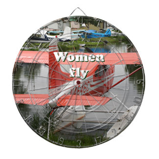 Women fly: float plane 23, Alaska Dartboard