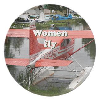 Women fly: float plane 23, Alaska Dinner Plate