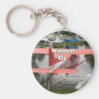 Women fly: float plane 23, Alaska Keychain