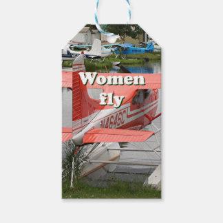 Women fly: float plane 23, Alaska Pack Of Gift Tags