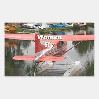 Women fly: float plane 23, Alaska Sticker