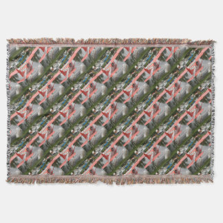 Women fly: float plane 23, Alaska Throw Blanket