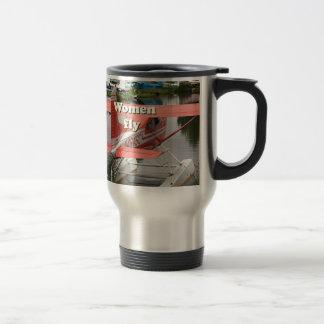Women fly: float plane 23, Alaska Travel Mug