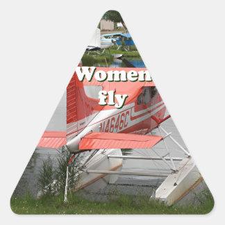 Women fly: float plane 23, Alaska Triangle Sticker