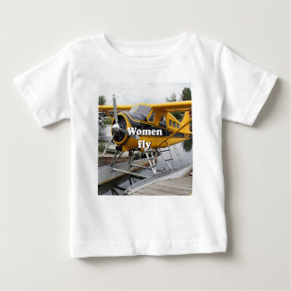 Women fly: float plane, Lake Hood, Alaska Baby T-Shirt