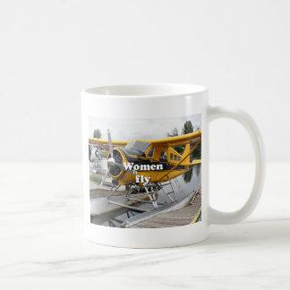Women fly: float plane, Lake Hood, Alaska Coffee Mug