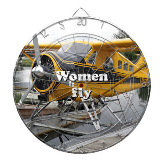 Women fly: float plane, Lake Hood, Alaska Dartboard