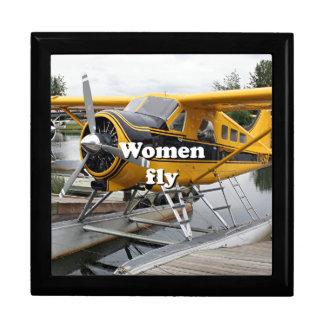 Women fly: float plane, Lake Hood, Alaska Gift Boxes