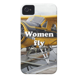 Women fly: float plane, Lake Hood, Alaska iPhone 4 Case-Mate Cases