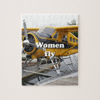 Women fly: float plane, Lake Hood, Alaska Jigsaw Puzzle