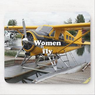 Women fly: float plane, Lake Hood, Alaska Mouse Pad