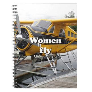 Women fly: float plane, Lake Hood, Alaska Notebooks
