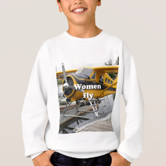 Women fly: float plane, Lake Hood, Alaska Sweatshirt