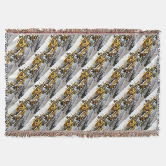 Women fly: float plane, Lake Hood, Alaska Throw Blanket