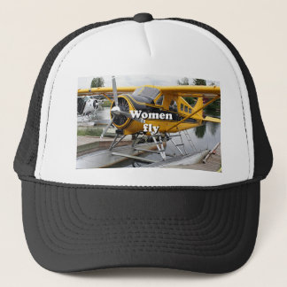Women fly: float plane, Lake Hood, Alaska Trucker Hat