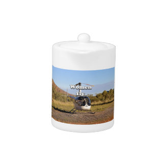 Women fly: Helicopter (white) 2
