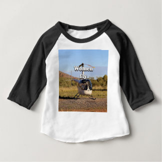 Women fly: Helicopter (white) 2 Baby T-Shirt